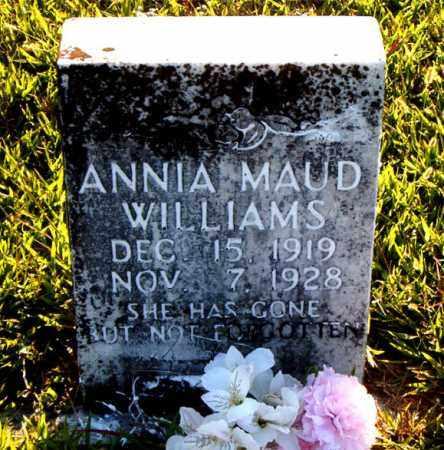 WILLIAMS, ANNIA  MAUD - Boone County, Arkansas   ANNIA  MAUD WILLIAMS - Arkansas Gravestone Photos