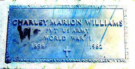 WILLIAMS  (VETERAN WWI), CHARLEY  MARION - Boone County, Arkansas | CHARLEY  MARION WILLIAMS  (VETERAN WWI) - Arkansas Gravestone Photos