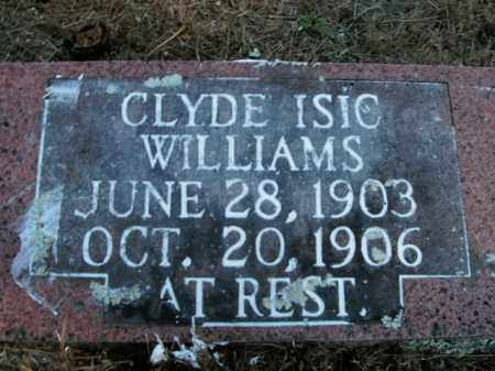 WILLIAMS, CLYDE ISIC - Boone County, Arkansas | CLYDE ISIC WILLIAMS - Arkansas Gravestone Photos