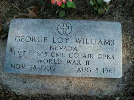 WILLIAMS, GEORGE LOY - Boone County, Arkansas | GEORGE LOY WILLIAMS - Arkansas Gravestone Photos