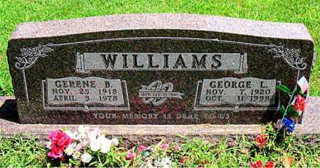 WILLIAMS, GERENE B. - Boone County, Arkansas   GERENE B. WILLIAMS - Arkansas Gravestone Photos