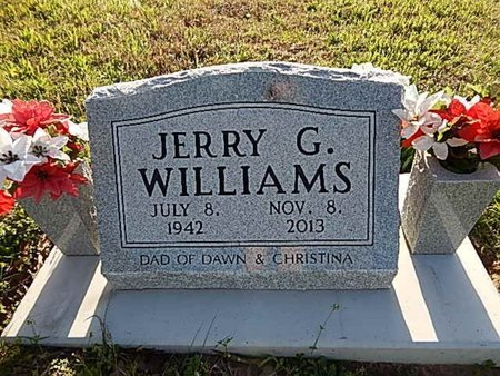WILLIAMS, JERRY G - Boone County, Arkansas | JERRY G WILLIAMS - Arkansas Gravestone Photos