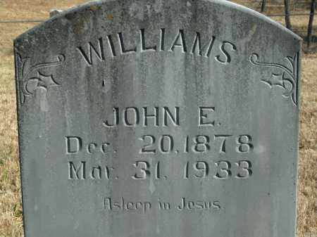 WILLIAMS, JOHN EDWARD - Boone County, Arkansas | JOHN EDWARD WILLIAMS - Arkansas Gravestone Photos