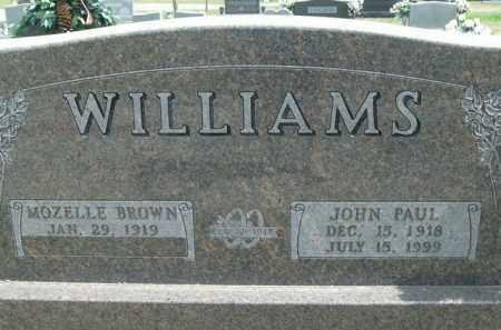 WILLIAMS, JOHN PAUL - Boone County, Arkansas | JOHN PAUL WILLIAMS - Arkansas Gravestone Photos