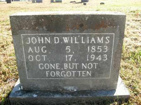 WILLIAMS, JOHN D. - Boone County, Arkansas   JOHN D. WILLIAMS - Arkansas Gravestone Photos