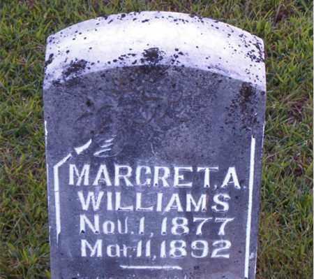 WILLIAMS, MARGRET  A. - Boone County, Arkansas | MARGRET  A. WILLIAMS - Arkansas Gravestone Photos