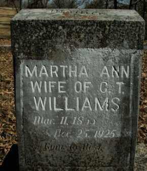 WILLIAMS, MARTHA ANN - Boone County, Arkansas   MARTHA ANN WILLIAMS - Arkansas Gravestone Photos