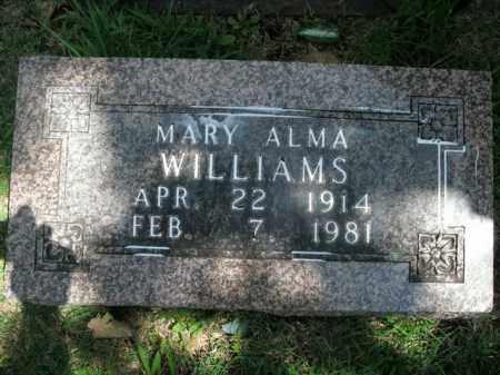 WILLIAMS, MARY ALMA - Boone County, Arkansas   MARY ALMA WILLIAMS - Arkansas Gravestone Photos