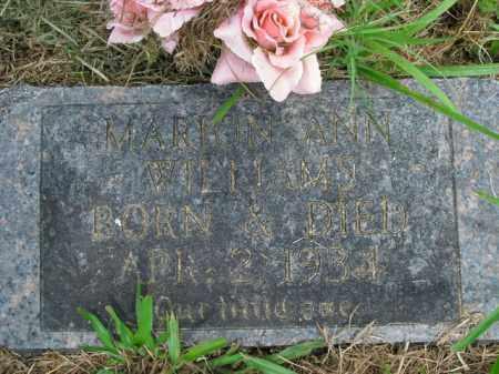 WILLIAMS, MARION ANN - Boone County, Arkansas   MARION ANN WILLIAMS - Arkansas Gravestone Photos
