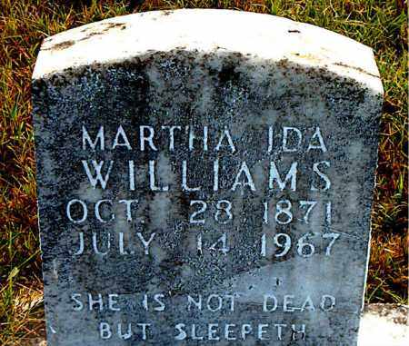 WILLIAMS, MARTHA  IDA - Boone County, Arkansas   MARTHA  IDA WILLIAMS - Arkansas Gravestone Photos