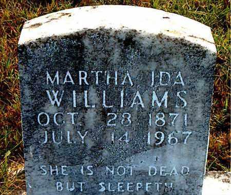 WILLIAMS, MARTHA  IDA - Boone County, Arkansas | MARTHA  IDA WILLIAMS - Arkansas Gravestone Photos