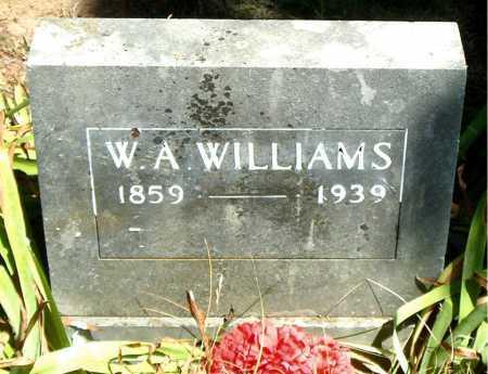 WILLIAMS, W. A. - Boone County, Arkansas   W. A. WILLIAMS - Arkansas Gravestone Photos