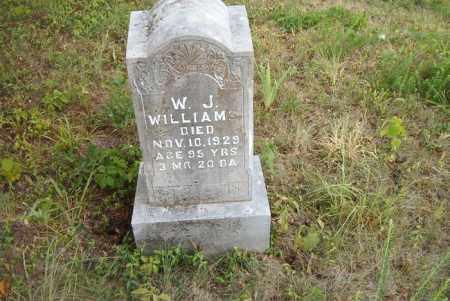 WILLIAMS, W.  J. - Boone County, Arkansas | W.  J. WILLIAMS - Arkansas Gravestone Photos