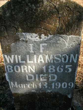 WILLIAMSON, I.F. - Boone County, Arkansas   I.F. WILLIAMSON - Arkansas Gravestone Photos