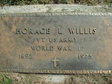 WILLIS  (VETERAN WWI), HORACE L - Boone County, Arkansas | HORACE L WILLIS  (VETERAN WWI) - Arkansas Gravestone Photos