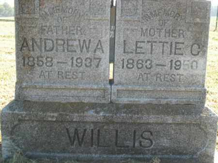 WILLIS, ANDREW A. - Boone County, Arkansas | ANDREW A. WILLIS - Arkansas Gravestone Photos