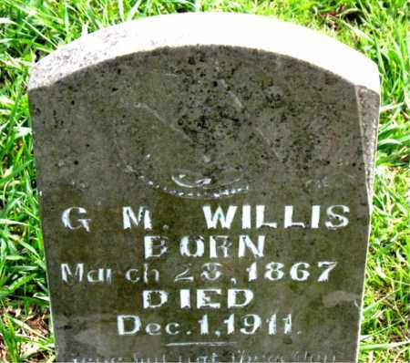 WILLIS, G M - Boone County, Arkansas   G M WILLIS - Arkansas Gravestone Photos