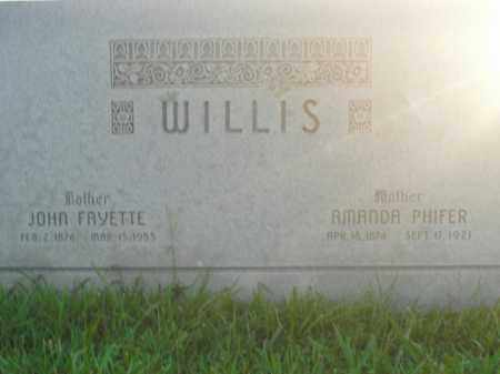 WILLIS, JOHN FAYETTE - Boone County, Arkansas | JOHN FAYETTE WILLIS - Arkansas Gravestone Photos