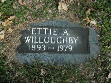 WILLOUGHBY, ETTIE A. - Boone County, Arkansas   ETTIE A. WILLOUGHBY - Arkansas Gravestone Photos