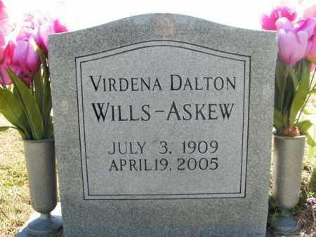 DALTON WILLS-ASKEW, VIRDENA - Boone County, Arkansas | VIRDENA DALTON WILLS-ASKEW - Arkansas Gravestone Photos