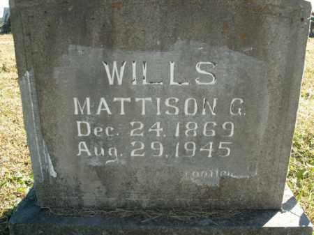 WILLS, MATTISON G. - Boone County, Arkansas | MATTISON G. WILLS - Arkansas Gravestone Photos