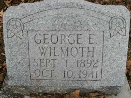 WILMOTH, GEORGE E. - Boone County, Arkansas   GEORGE E. WILMOTH - Arkansas Gravestone Photos