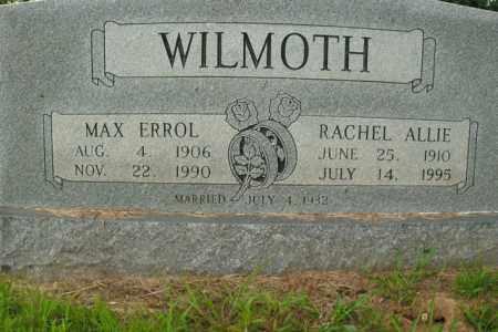 WILMOTH, MAX ERROL - Boone County, Arkansas | MAX ERROL WILMOTH - Arkansas Gravestone Photos