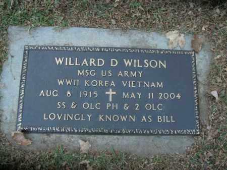 WILSON  (VETERAN 3 WARS), WILLARD D - Boone County, Arkansas | WILLARD D WILSON  (VETERAN 3 WARS) - Arkansas Gravestone Photos