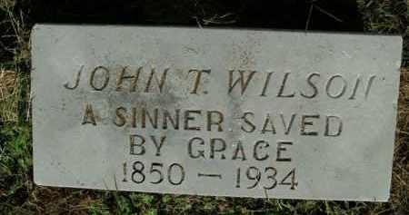 WILSON, JOHN T. (REVEREND) - Boone County, Arkansas | JOHN T. (REVEREND) WILSON - Arkansas Gravestone Photos