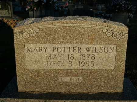 POTTER WILSON, MARY - Boone County, Arkansas   MARY POTTER WILSON - Arkansas Gravestone Photos