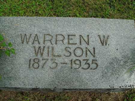 WILSON, WARREN W. - Boone County, Arkansas   WARREN W. WILSON - Arkansas Gravestone Photos