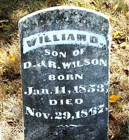 WILSON, WILLIAM  D. - Boone County, Arkansas   WILLIAM  D. WILSON - Arkansas Gravestone Photos