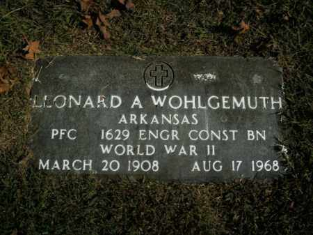 WOHLGEMUTH  (VETERAN WWII), LEONARD A - Boone County, Arkansas   LEONARD A WOHLGEMUTH  (VETERAN WWII) - Arkansas Gravestone Photos