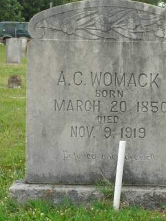 WOMACK, A.C. - Boone County, Arkansas | A.C. WOMACK - Arkansas Gravestone Photos