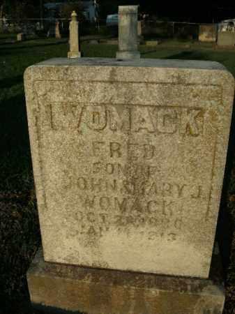 WOMACK, FRED - Boone County, Arkansas | FRED WOMACK - Arkansas Gravestone Photos