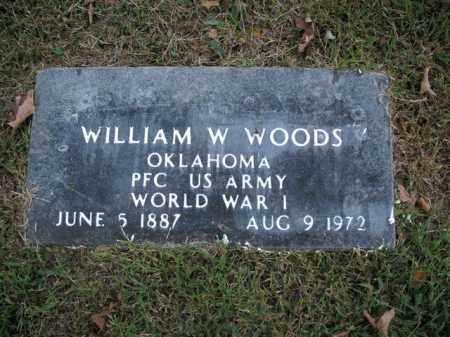 WOODS  (VETERAN WWI), WILLIAM W - Boone County, Arkansas   WILLIAM W WOODS  (VETERAN WWI) - Arkansas Gravestone Photos