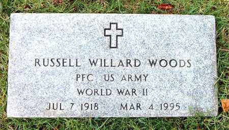 WOODS  (VETERAN WWII), RUSSELL WILLARD - Boone County, Arkansas | RUSSELL WILLARD WOODS  (VETERAN WWII) - Arkansas Gravestone Photos