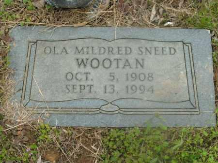 SNEED WOOTAN, OLA MILDRED - Boone County, Arkansas | OLA MILDRED SNEED WOOTAN - Arkansas Gravestone Photos