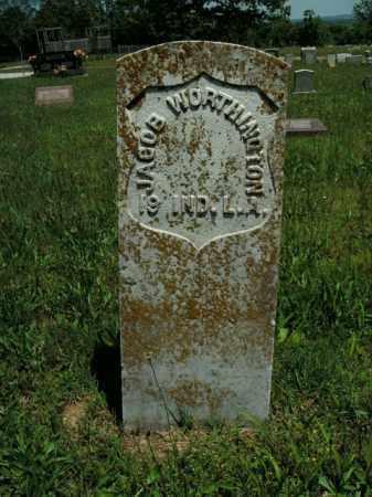 WORTHINGTON  (VETERAN UNION), JACOB - Boone County, Arkansas | JACOB WORTHINGTON  (VETERAN UNION) - Arkansas Gravestone Photos