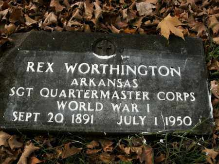 WORTHINGTON  (VETERAN WWI), REX - Boone County, Arkansas | REX WORTHINGTON  (VETERAN WWI) - Arkansas Gravestone Photos