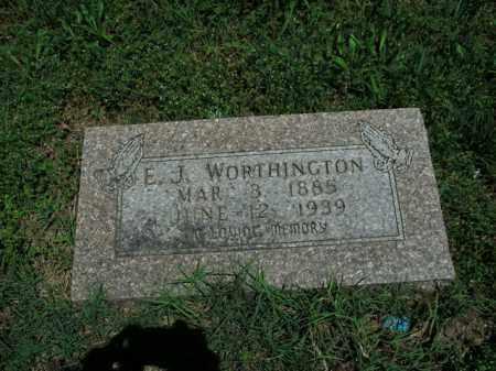 WORTHINGTON, E. J. - Boone County, Arkansas | E. J. WORTHINGTON - Arkansas Gravestone Photos
