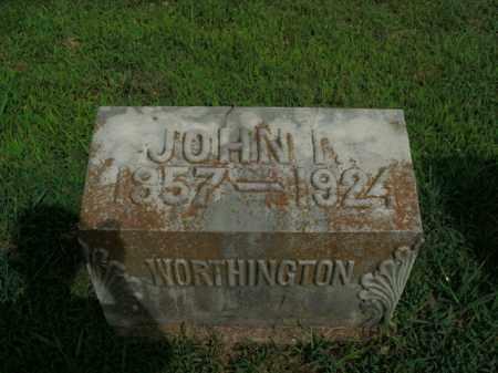 WORTHINGTON, JOHN I. - Boone County, Arkansas | JOHN I. WORTHINGTON - Arkansas Gravestone Photos