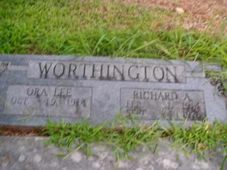 WORTHINGTON, RICHARD A. - Boone County, Arkansas | RICHARD A. WORTHINGTON - Arkansas Gravestone Photos