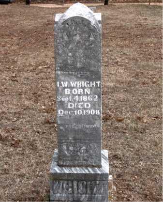 WRIGHT, I.  W. - Boone County, Arkansas | I.  W. WRIGHT - Arkansas Gravestone Photos