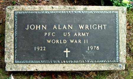 WRIGHT  (VETERAN WWII), JOHN ALAN - Boone County, Arkansas   JOHN ALAN WRIGHT  (VETERAN WWII) - Arkansas Gravestone Photos