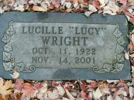 """WRIGHT, LUCILLE """"LUCY"""" - Boone County, Arkansas 