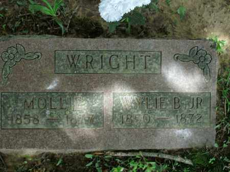 WRIGHT, MOLLIE - Boone County, Arkansas | MOLLIE WRIGHT - Arkansas Gravestone Photos