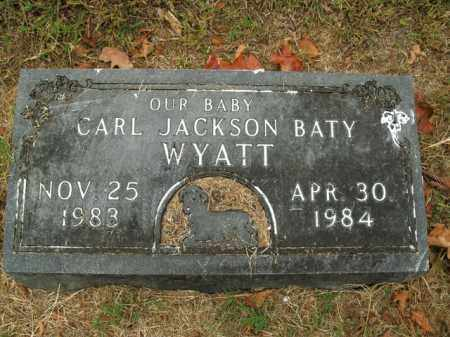 WYATT, CARL JACKSON BATY - Boone County, Arkansas | CARL JACKSON BATY WYATT - Arkansas Gravestone Photos