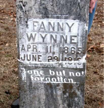 WYNNE, FANNY - Boone County, Arkansas | FANNY WYNNE - Arkansas Gravestone Photos