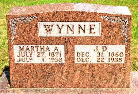 WYNNE, MARTHA A - Boone County, Arkansas | MARTHA A WYNNE - Arkansas Gravestone Photos